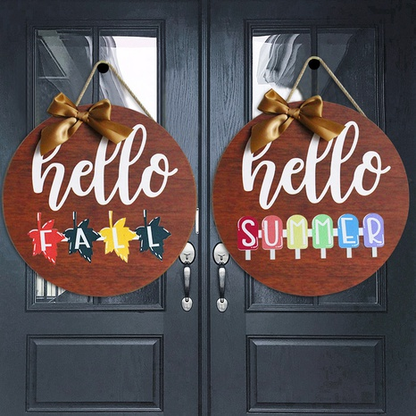new wooden doorplate can replace  seasonal logo home decoration wholesale Nihaojewelry  NHGAL419371's discount tags