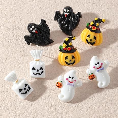 Halloween Kunststoff Geistergesicht Kürbis Tod Ohrringe Großhandel Schmuck Nihaojewelry NHNZ419433's discount tags