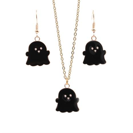 Halloween-Legierung Black Ghost Ohrringe Halskette Set Großhandel Schmuck Nihaojewelry NHYL419499's discount tags