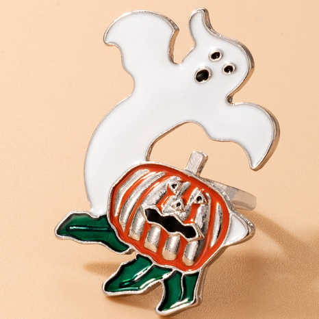 Halloween cute devil dripping oil pumpkin alloy ring wholesale Nihaojewelry  NHGY421491's discount tags