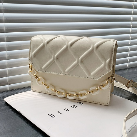 fashion rhombus pattern messenger one-shoulder saddle bag wholesale nihaojewelry  NHRU420639's discount tags