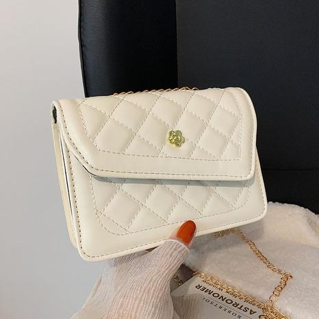 fashion rhombic embroidered thread shoulder messenger handbag wholesale nihaojewelry  NHRU420640's discount tags