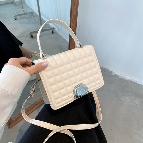 retro rhombus solid color crossbody small square bag wholesale nihaojewelry  NHRU420643's discount tags