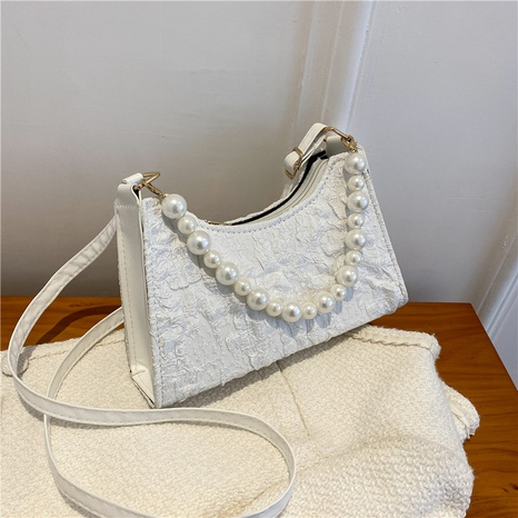 fashion solid color pearl one-shoulder messenger bag wholesale Nihaojewelry NHRU420653's discount tags