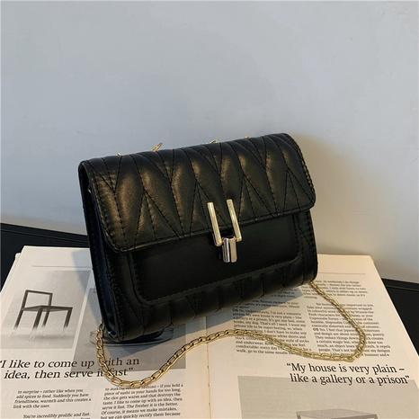 fashion texture chain lock single shoulder messenger bag wholesale Nihaojewelry NHRU420663's discount tags