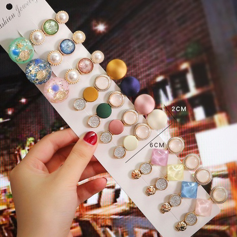 Pince à cheveux perle carrée de couleur bonbon de style coréen en gros nihaojewelry NHPA420692's discount tags