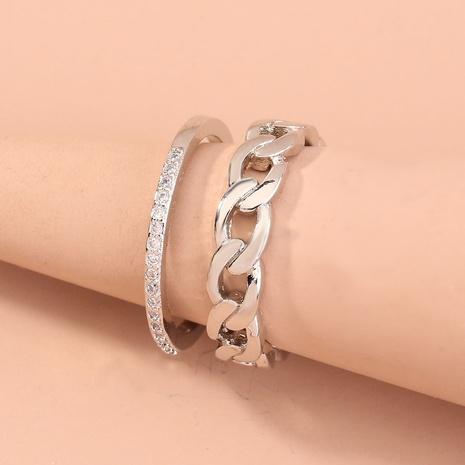 nueva cadena de circón con incrustaciones micro de moda que abre el anillo ajustable al por mayor Nihaojewelry NHDB420826's discount tags