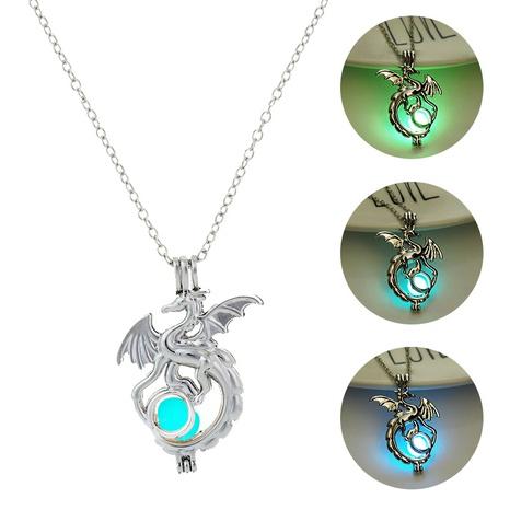 Halloween luminous pterodactyl pendant punk style necklace wholesale jewelry Nihaojewelry NHDB420833's discount tags