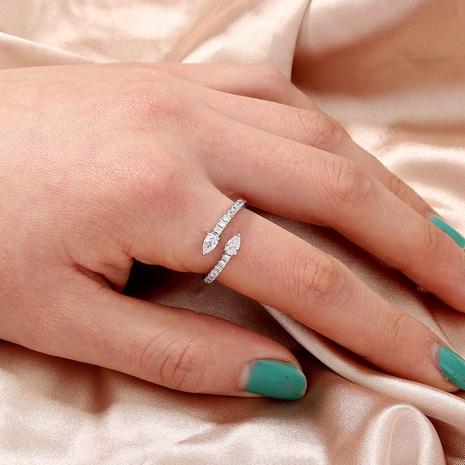 anillo de galvanoplastia ajustable con apertura de un solo diamante de moda al por mayor Nihaojewelry NHDB420853's discount tags