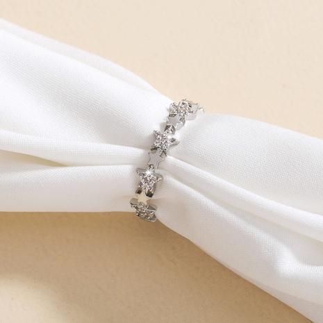 nuevo anillo de circón con micro incrustaciones de coper estrella de cinco puntas estrellado al por mayor Nihaojewelry NHDB420871's discount tags