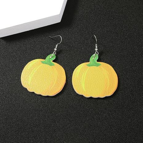 halloween pumpkin leather earrings wholesale Nihaojewelry NHDB420903's discount tags