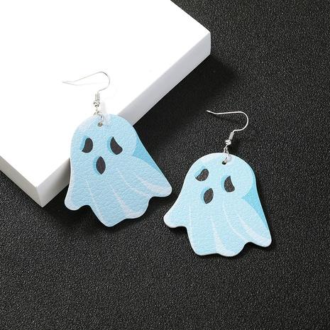 Halloween ghost PU leather earrings wholesale Nihaojewelry NHDB420907's discount tags
