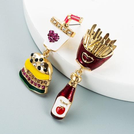 Korean cola soda burger shape earrings wholesale Nihaojewelry NHLN421383's discount tags