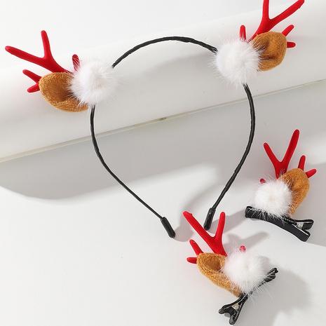 Christmas Elk Horn Hair Band Hairpin Set Wholesale Nihaojewelry  NHAU421191's discount tags