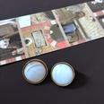 NHOM2013358-White-round-gold-rim-silver-pin-stud-e