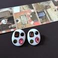 NHOM2013359-Oval-colored-gemstone-silver-pin-earri