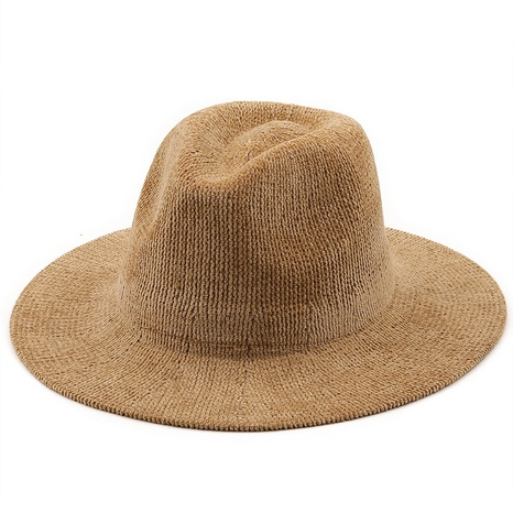 new knitted solid color warm jazz hat wholesale Nihaojewelry  NHXV420978's discount tags