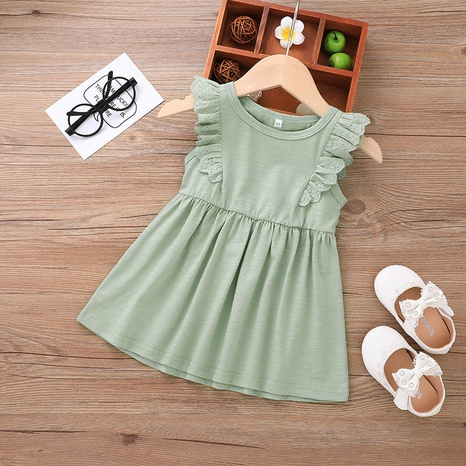 fashion solid color vest baby sleeveless dress wholesale nihaojewelry NHLF421022's discount tags