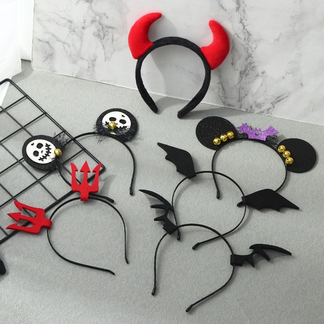 Halloween wizard pumpkin devil hair band wholesale Nihaojewelry NHAU421042's discount tags