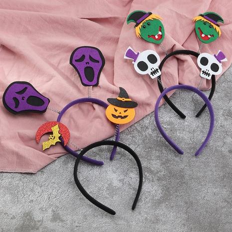 Halloween children's party pumpkin witch headband wholesale Nihaojewelry NHAU421043's discount tags