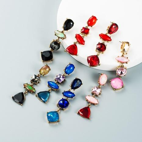 drop-shaped diamond multi-layer pendant earrings wholesale nihaojewelry  NHLN421169's discount tags