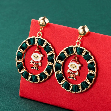 Dripping Oil Santa Christmas Bell Snowflake Earrings Wholesale Nihaojewelry  NHLN421177's discount tags