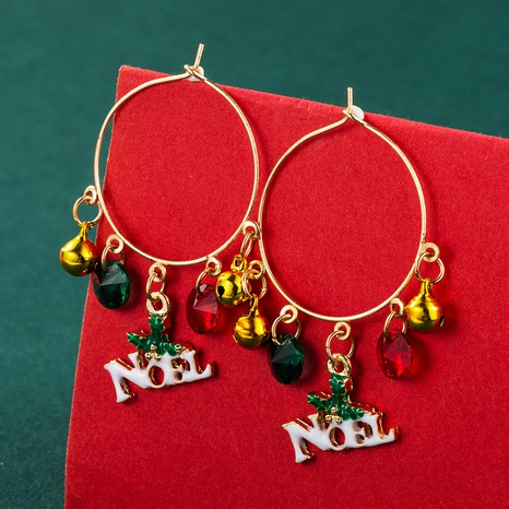 Christmas Tree Bow Pendant Earrings Wholesale Nihaojewelry  NHLN421179's discount tags