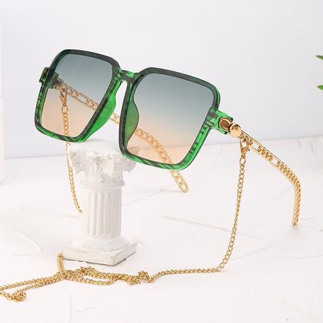 fashion chain big frame sunglasses wholesale Nihaojewelry NHLMO421539's discount tags