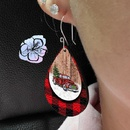 Christmas tree car printing leather drop earrings wholesale Nihaojewelry  NHQIY421666