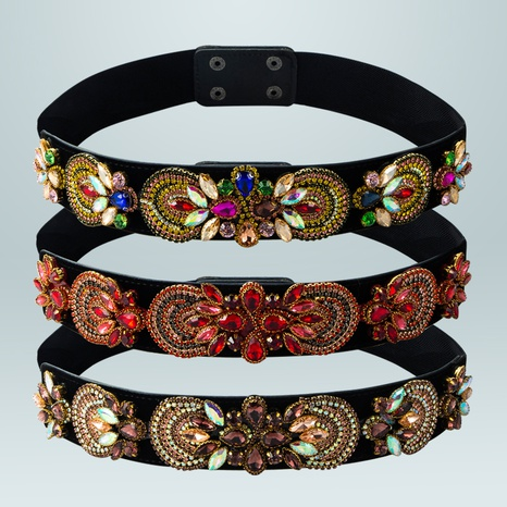 Double-breasted colorful elastic girdle wholesale Nihaojewelry  NHLN422257's discount tags