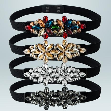 fashion diamond glower elastic waistband wholesale Nihaojewelry  NHLN422254's discount tags