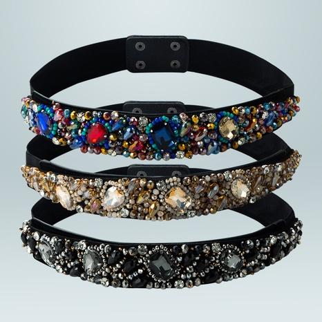 fashion geometric elastic elastic colorful crystal girdle wholesale Nihaojewelry  NHLN422252's discount tags