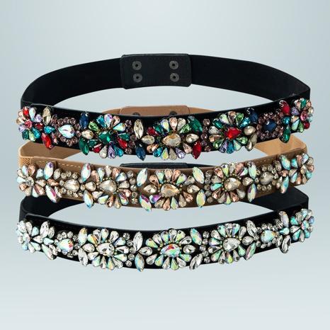 fashion geometric rhinestone elastic girdle wholesale Nihaojewelry  NHLN422085's discount tags
